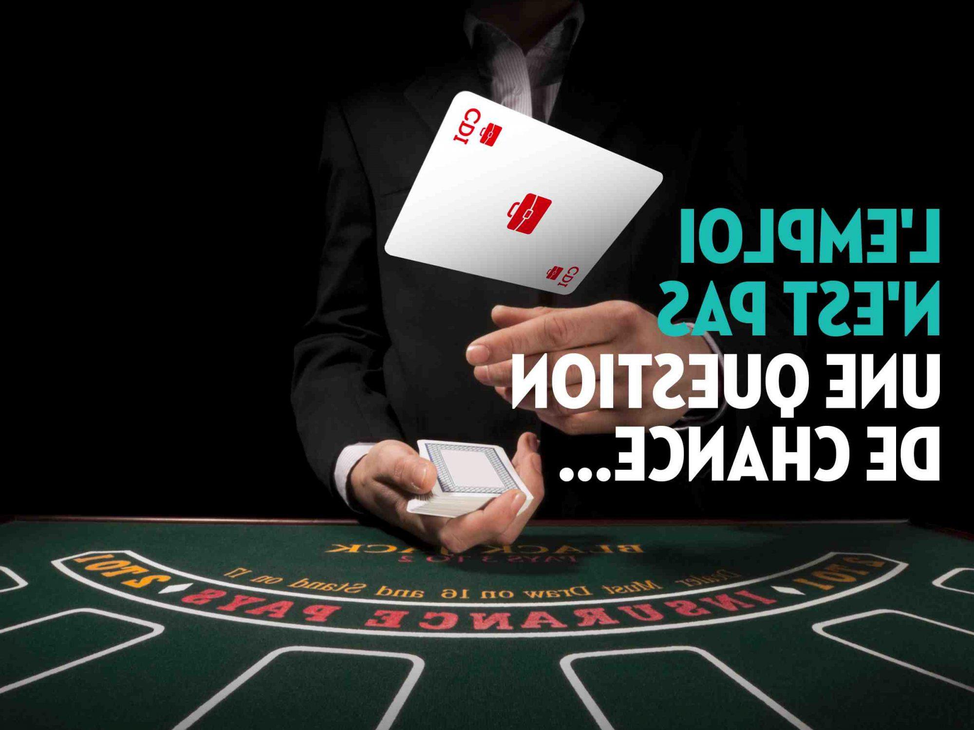 emplois dans le domaine des jeux d'argent